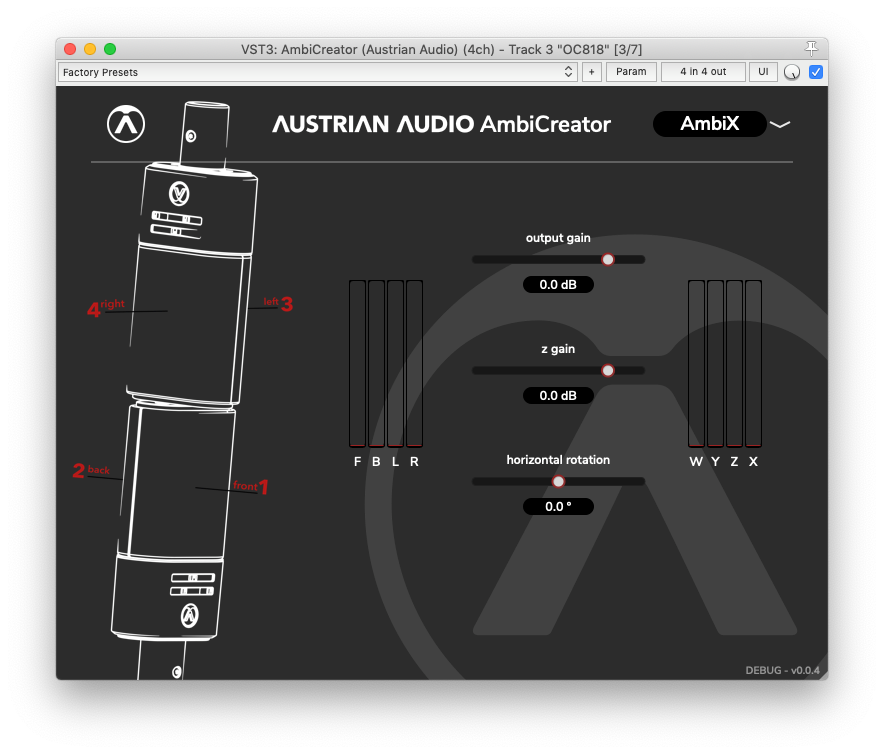 Austrian Audio AmbiCreator Plugin Screenshot